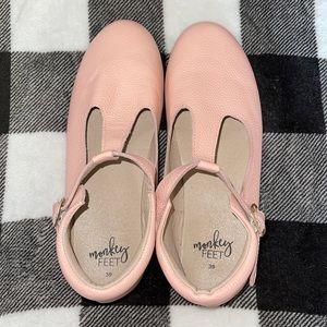 Mommy Monkey Feet T-Strap Shoes